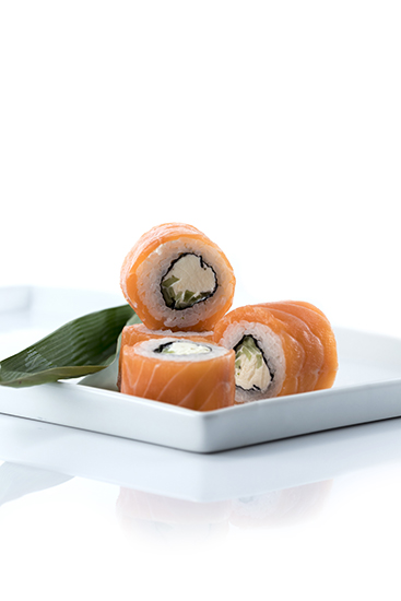 Salmon Sushi Design white Background
