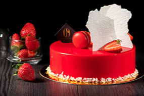 Bakery Marron  Red Cake with strawberries
