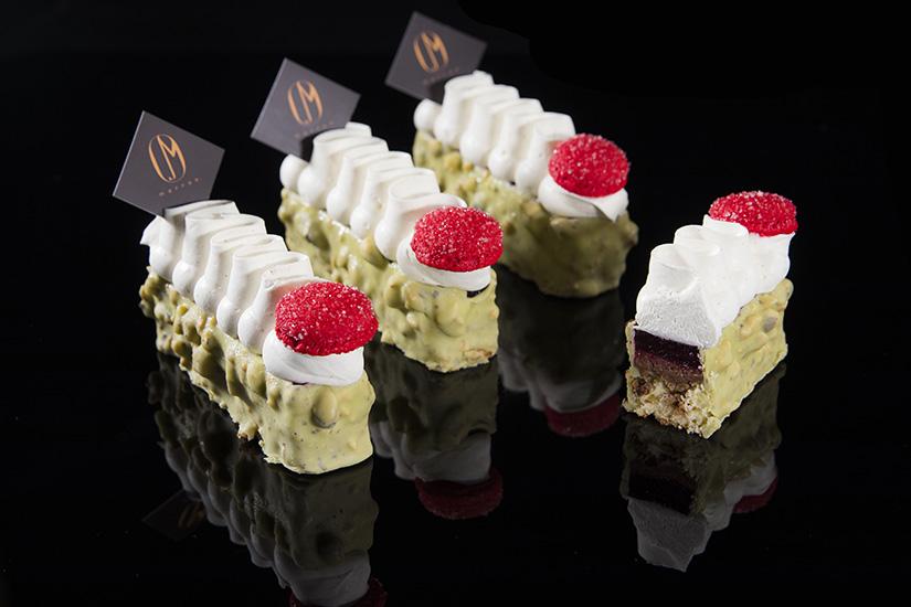 Marron Pastry cake with cream