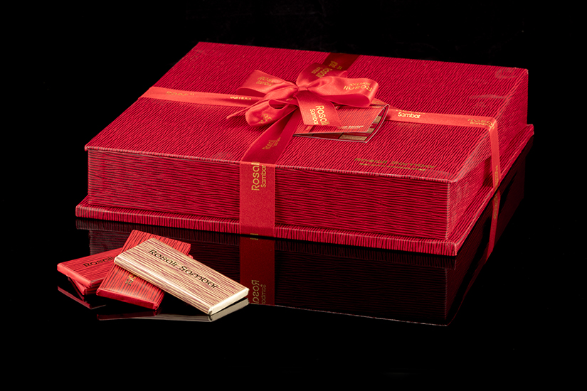 Rosali Red boxed chocolate