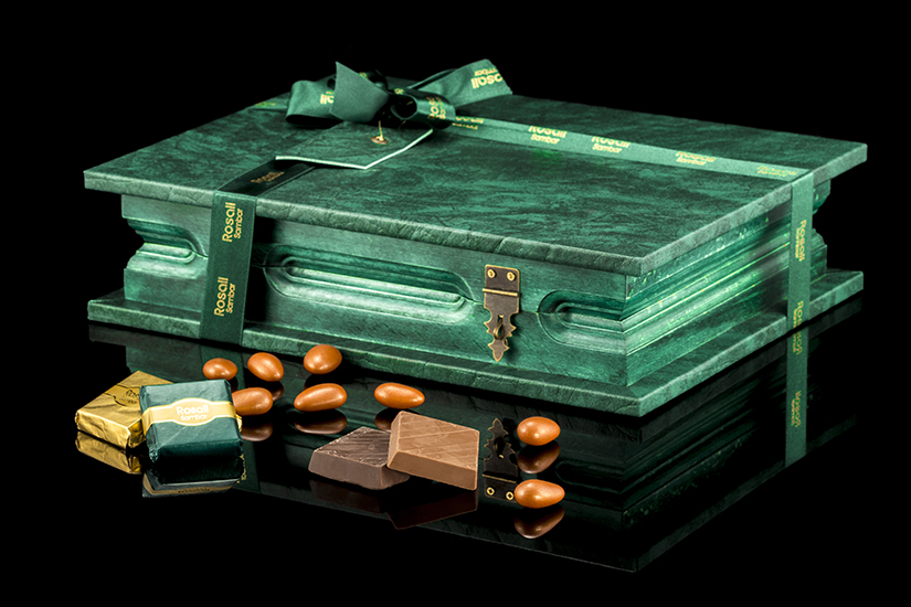Rosali Green boxed chocolate