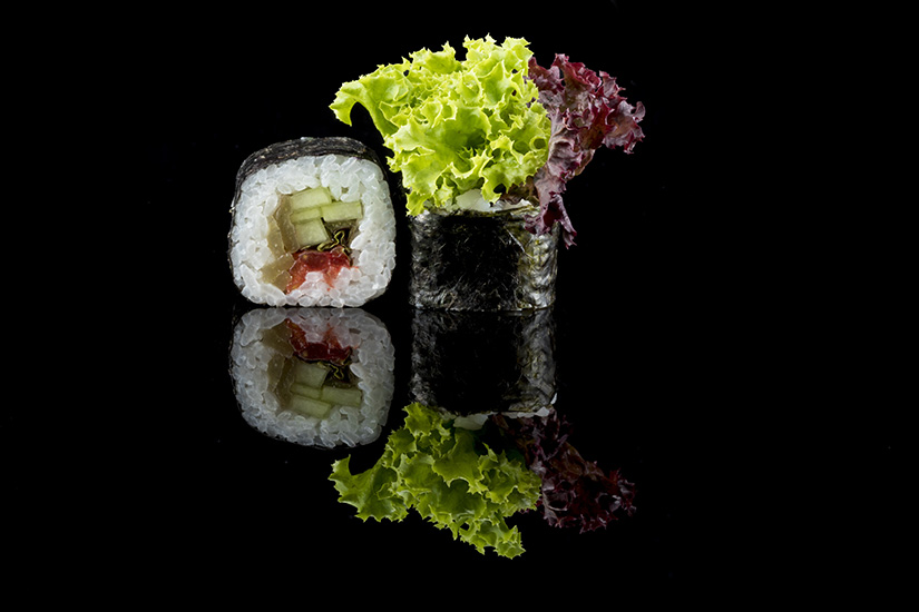 Sushi Design black Background
