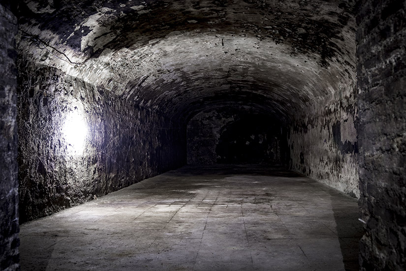 The Old Tunnel leading to the old wine cellar