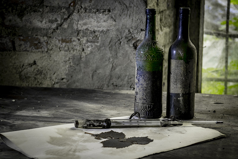Two bottles of old wine