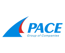 Pace Group of Companies Logo in blue and red color